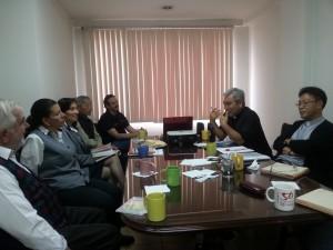 Representantes de Cáritas Corea en  reunión mantenida con el Comité de Coordinación de Cáritas Ecuador