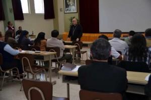 Asamblea Nacional de Cáritas, Mons. Julio Parrilla exponiendo.