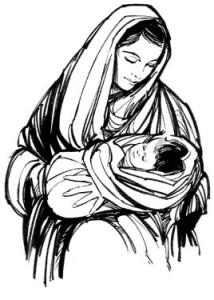 María, madre de Jesús.
