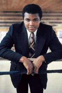 Heavyweight boxing champion Muhammad Ali is photographed at his Deer Lake, PA training camp in June of 1974. (Leroy Patton/Ebony Collection)